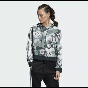 New adidas cropped bomber jacket